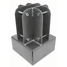 6 inch x 6 inch Aluminum Post Top Connector
