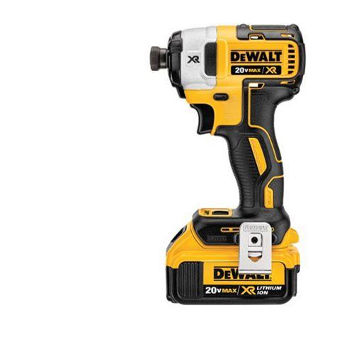 DEWALT 20V MAX XR Li-Ion sans fil sans fil Li-Ion sans balai 1/4 pouce sans fil 3 vitesses à percussion avec (2) piles 4Ah et chargeur
