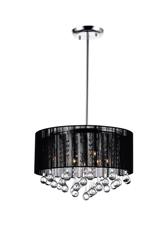 Black Sheer 18 Inches Chandelier