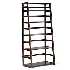 30 Inch X 63 16 Solid Wood Ladder Bookcase In
