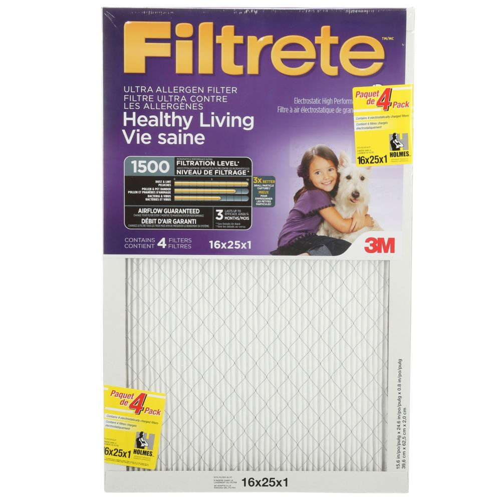 Filtrete(R) Airborne Microparticle Reduction Filter,16x25x1