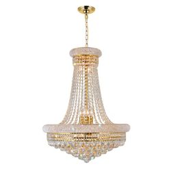 CWI Lighting 24 Inches Gold Beaded Pendent