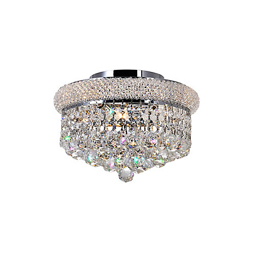 12-inch Round Crystal Beaded Flush Mount Light Fixture