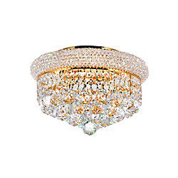 14 Inches  Gold Beaded Flush Mount