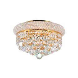 CWI Lighting 14 Inches  Gold Beaded Flush Mount