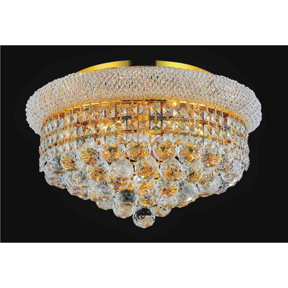 16 Inches Gold Beaded Flush Mount 8001C16G Canada Discount