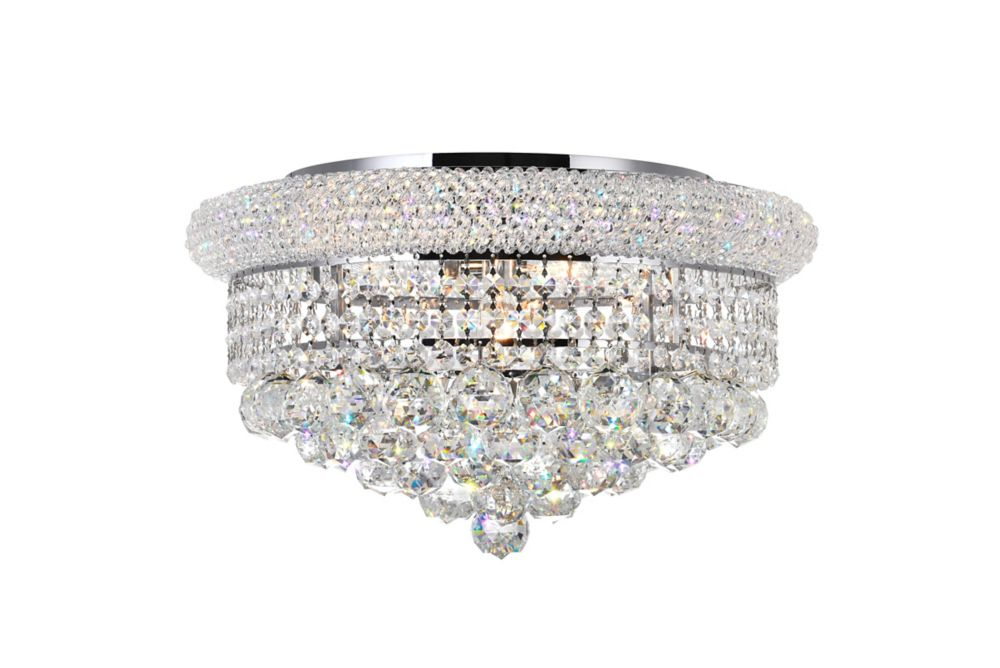 CWI Lighting 20 Inches Beaded Flush Mount