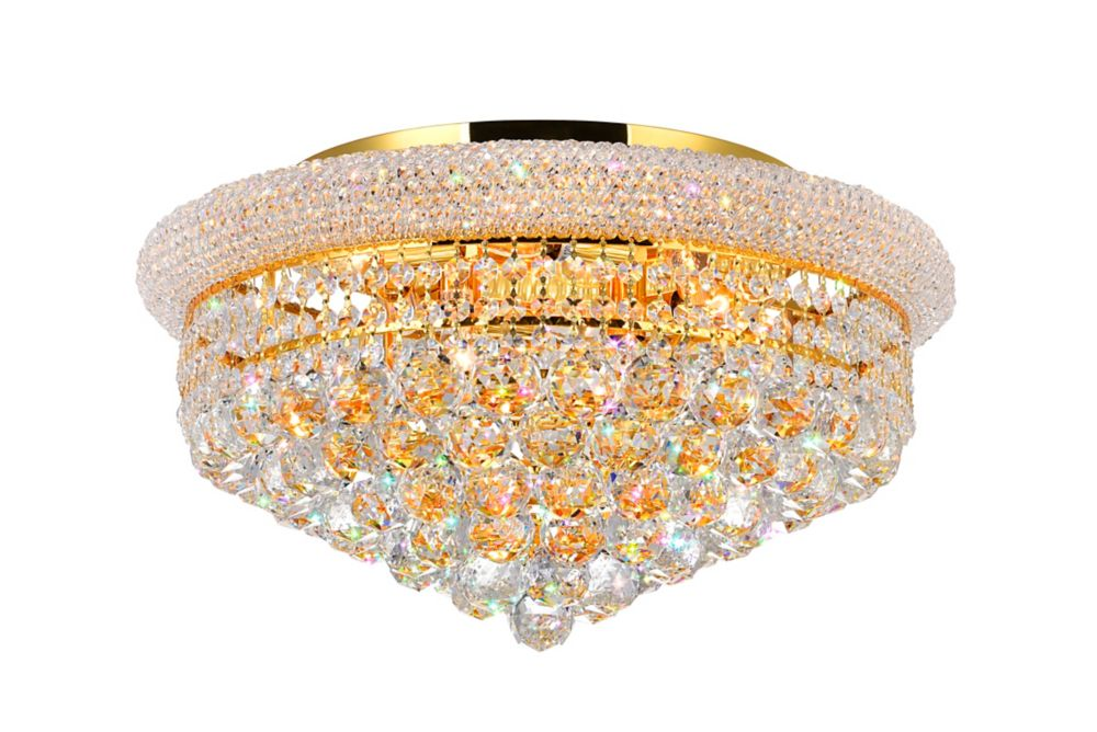 CWI Lighting 20 Inches Gold Beaded Flush Mount