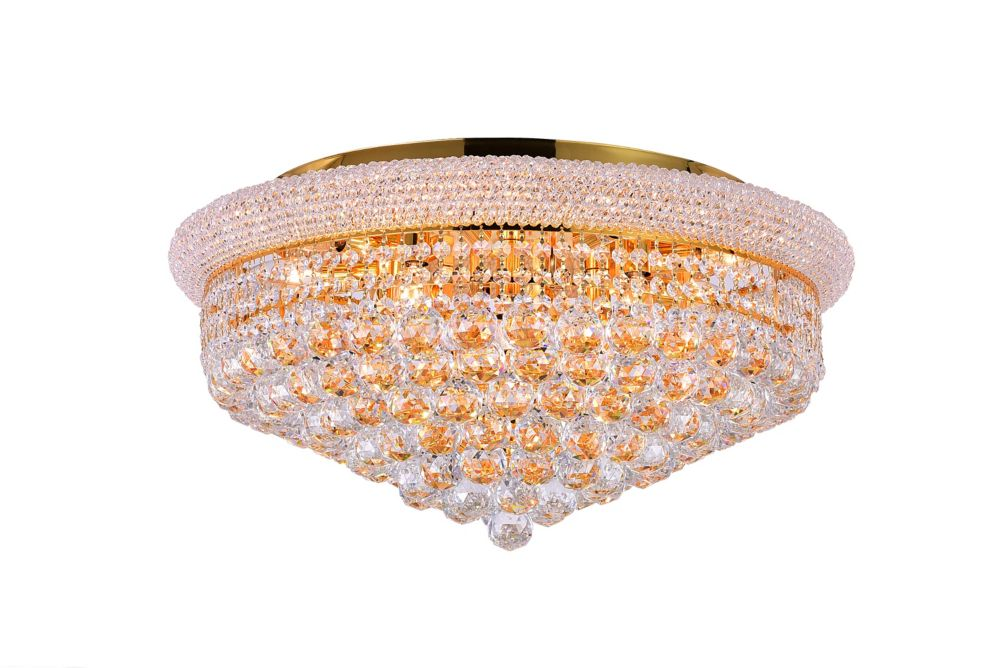 CWI Lighting 24 Inches Gold Beaded Flush Mount