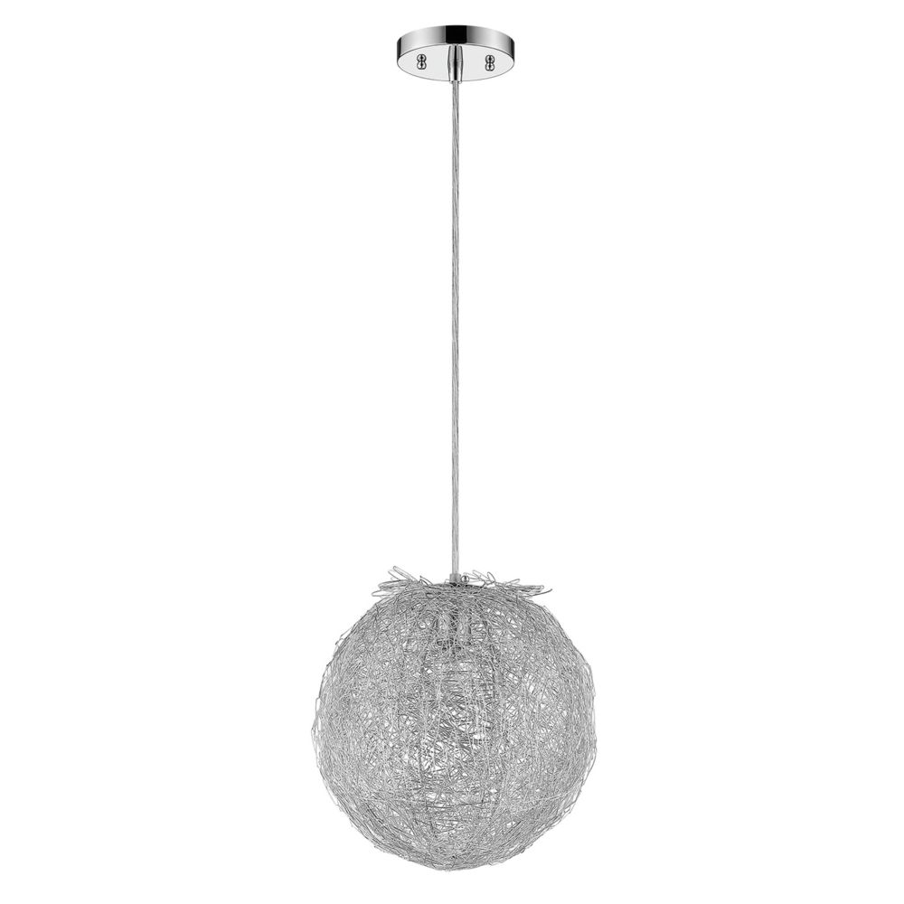 1 Light Ceiling Polished Chrome Incandescent Pendant TREND-TP4095 in Canada
