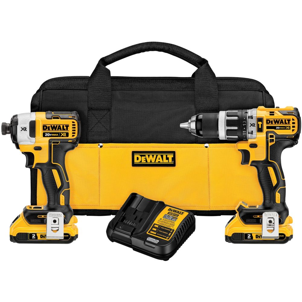 Dewalt dck287d2 20v max xr lithium ion brushless compact for Dewalt 20v brushless motor