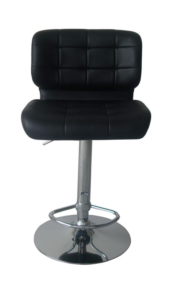 Durawood Deluxe Leather Metal Chrome Contemporary Low Back Armless
