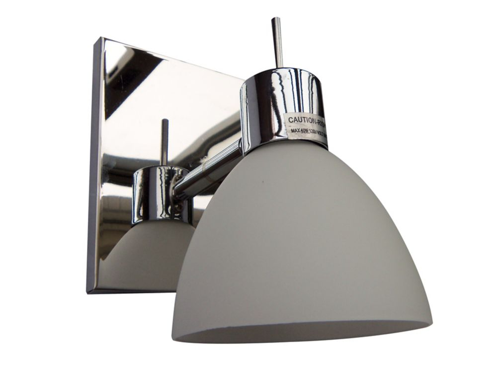 Wall Or Ceiling Mount Mono Point with Frosted Glass Shade 1474-71-CHR Canada Discount