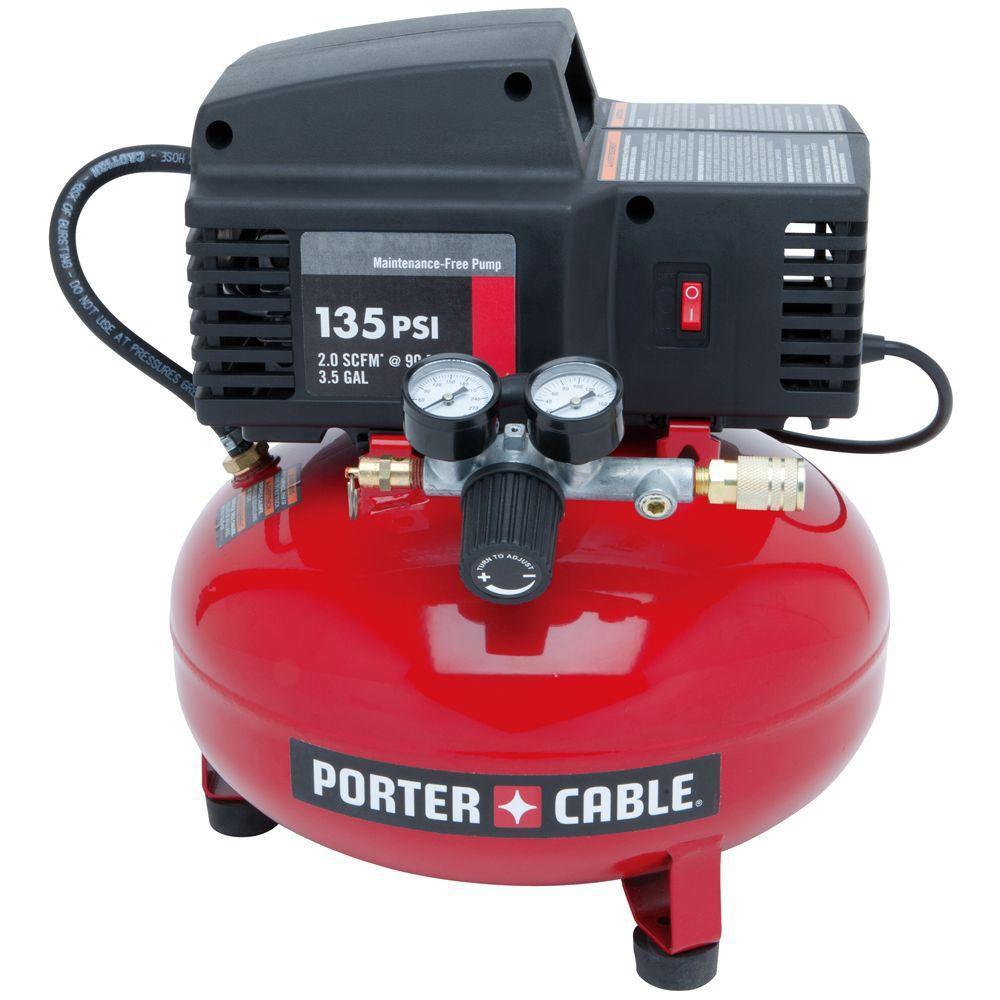 Porter Cable  Compresseurà réservoir plat en galette de 3,5gal