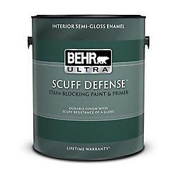 Behr Premium Plus Ultra Peinture et apprêt en un pour intérieur, émail semi-brillant, blanc ultra pur, 3,79 L