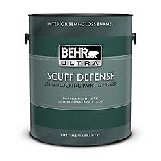 Interior Semi-Gloss Enamel Paint & Primer in One - Ultra Pure White,  3.79 L