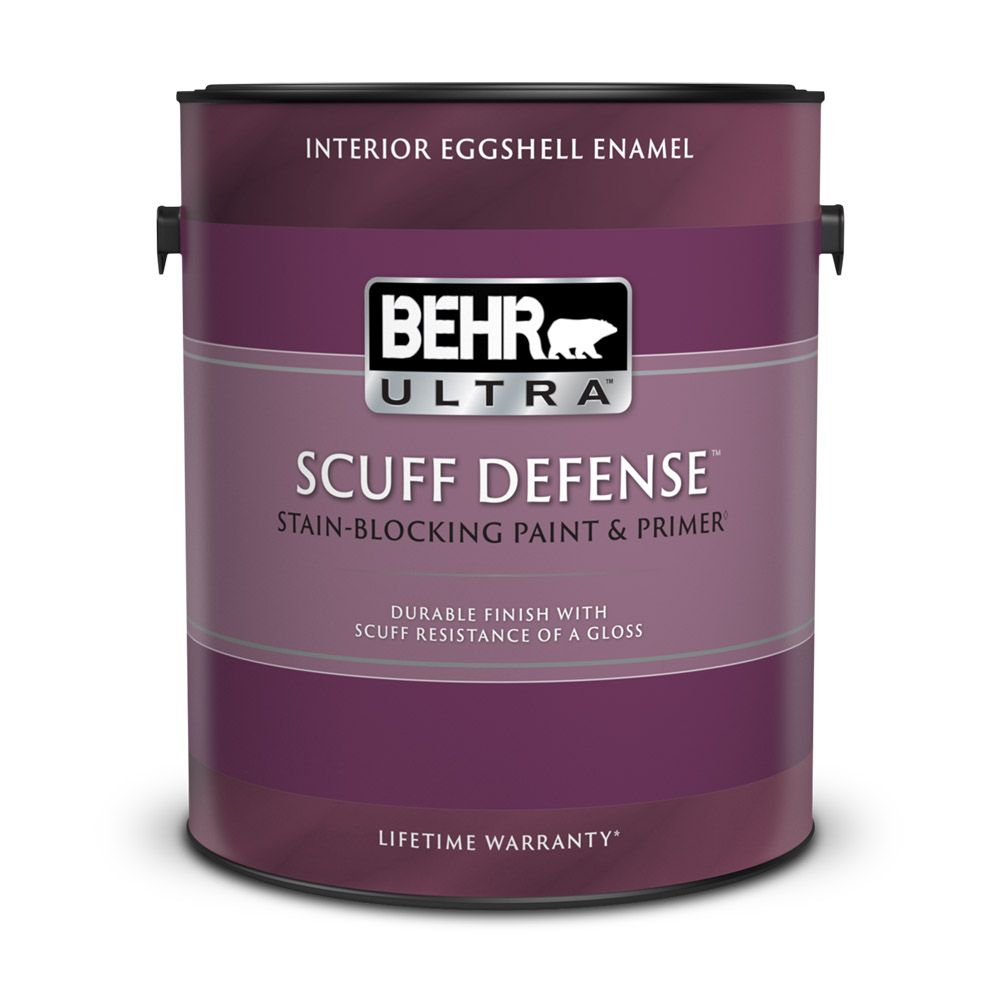 behr premium plus ultra interior eggshell enamel paint primer in one