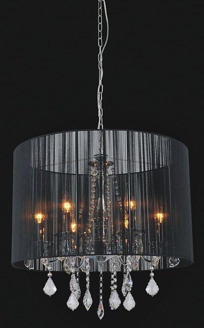 Black Sheer 6 Light Chandelier