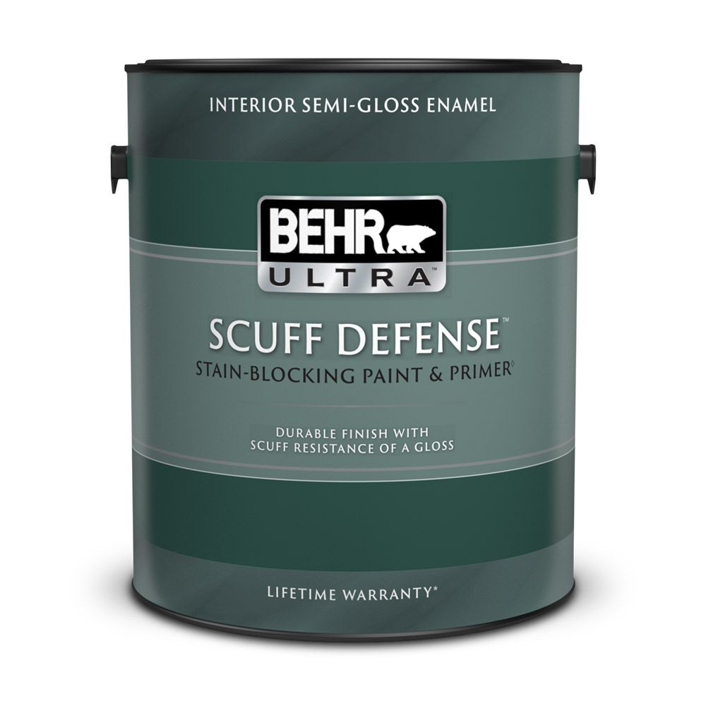 Interior Semi-Gloss Enamel Paint & Primer in One - Deep Base,  3.43 L