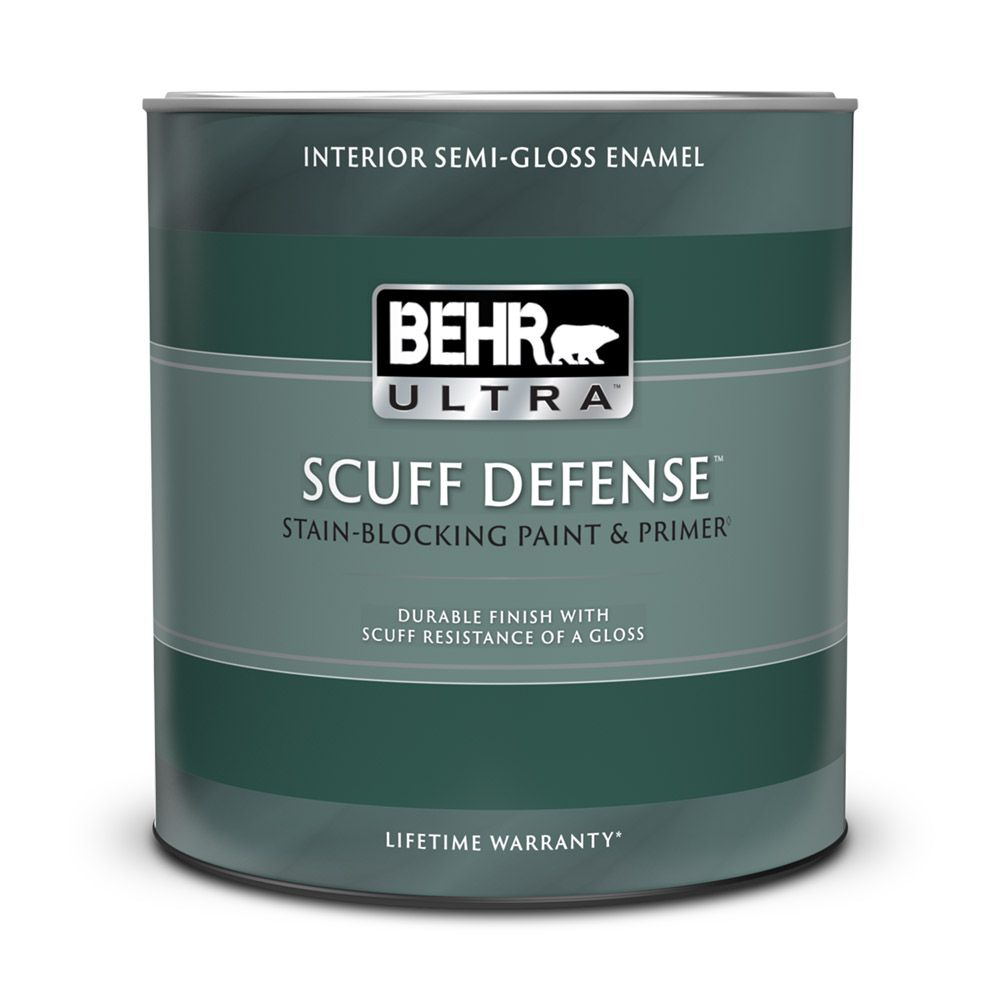 Behr Premium Plus Ultra Interior Semi Gloss Enamel Paint Primer In One Deep Base 858 Ml
