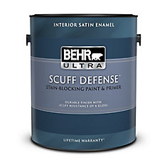 3.79 L Interior Satin Enamel Paint & Primer In One in Ultra Pure White