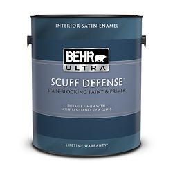 Behr Premium Plus Ultra 3.79 L Interior Satin Enamel Paint & Primer In One in Ultra Pure White