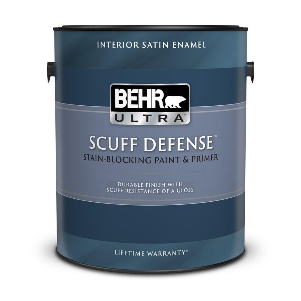 Interior Satin Enamel Paint & Primer In One - Deep Base,  3.43 L