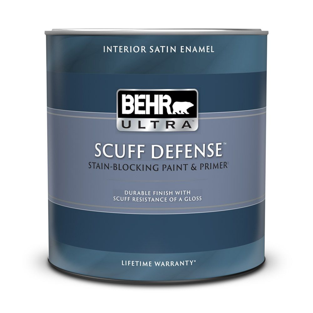 Interior Satin Enamel Paint & Primer In One - Deep Base,  858 ML