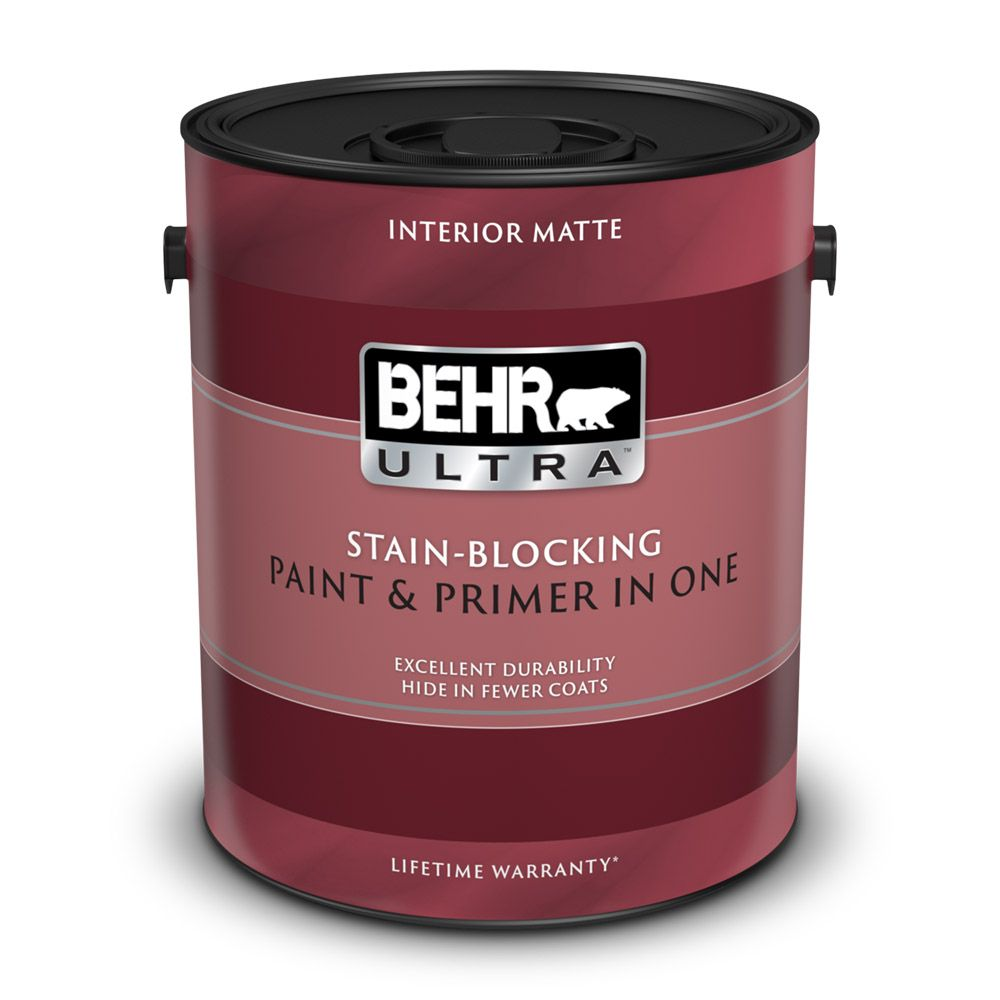 Interior Matte Paint & Primer in One - Deep Base,  3.43 L