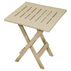 Folding Patio Side Table in Sandstone