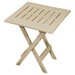 Gracious Living Folding Patio Side Table in Sandstone