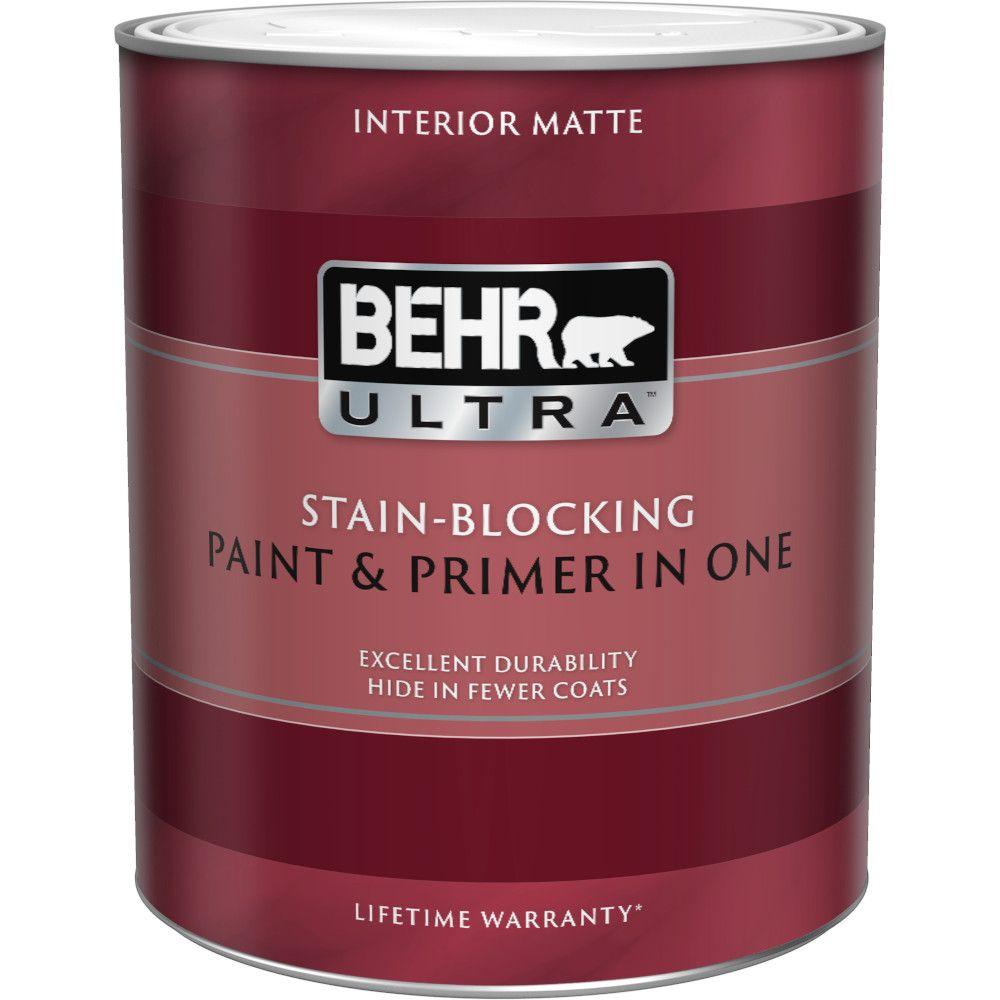 Interior Matte Enamel Paint & Primer in One - Ultra Pure White,  946 ML