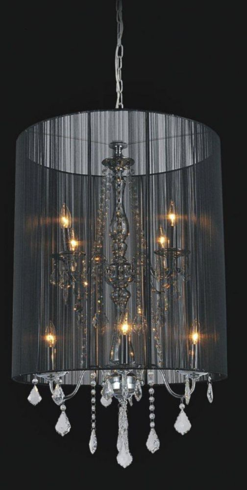 Crystal World Inc Black Sheer 8 Light Chandelier