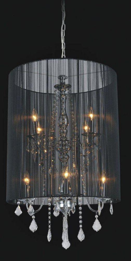 CWI Lighting Black Sheer 8 Light Chandelier