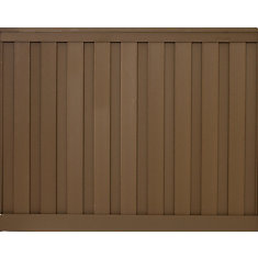 Kit de clôture vie privée composite couleur Saddle de 6' x 8'