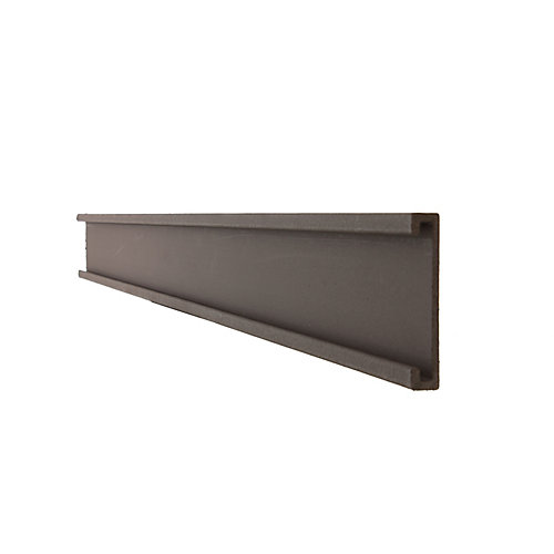 Seclusions 1 inch x 5-7/8 inch x 91 inch Wood Composite Woodland Brown Bottom Rail Cover and Picket