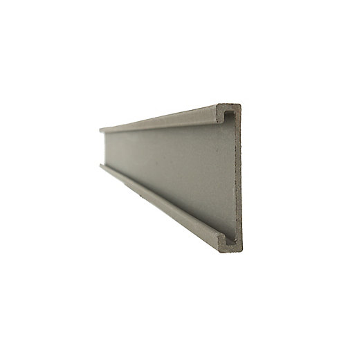 Seclusions 1 inch x 5-7/8 inch x 91 inch Wood Composite Winchester Grey Bottom Rail Cover and Picket