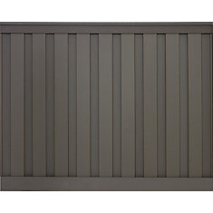 Kit de clôture vie privée composite couleur gris Winchester  de 6' x 8'