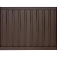 Kit de clôture vie privée composite couleur brun Woodland  6' x 8'