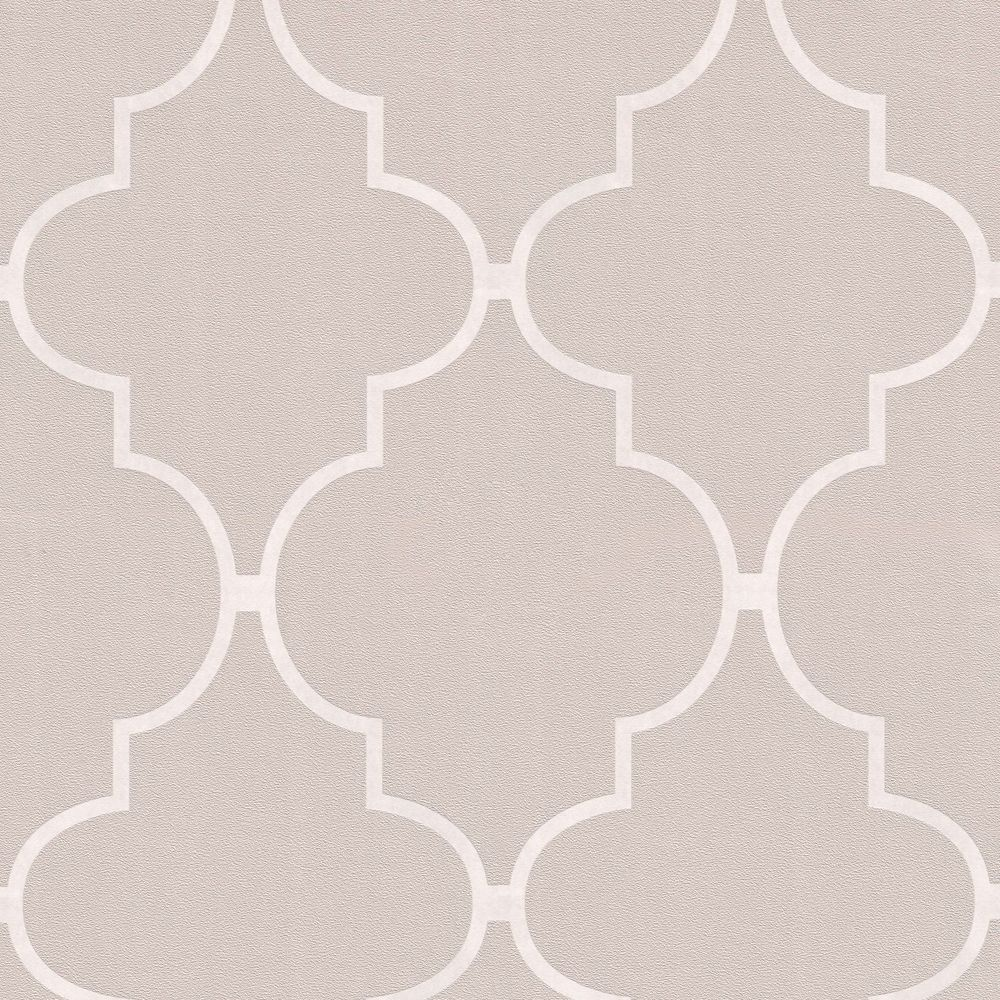 Spanish Tile Taupe Wallpaper