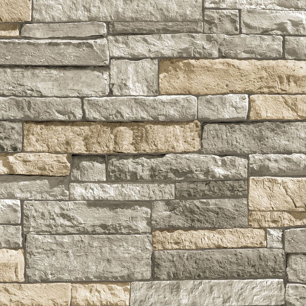 Ledgestone Terracotta Wallpaper