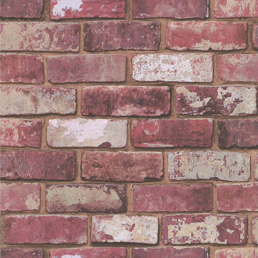 Brick Red Wallpaper