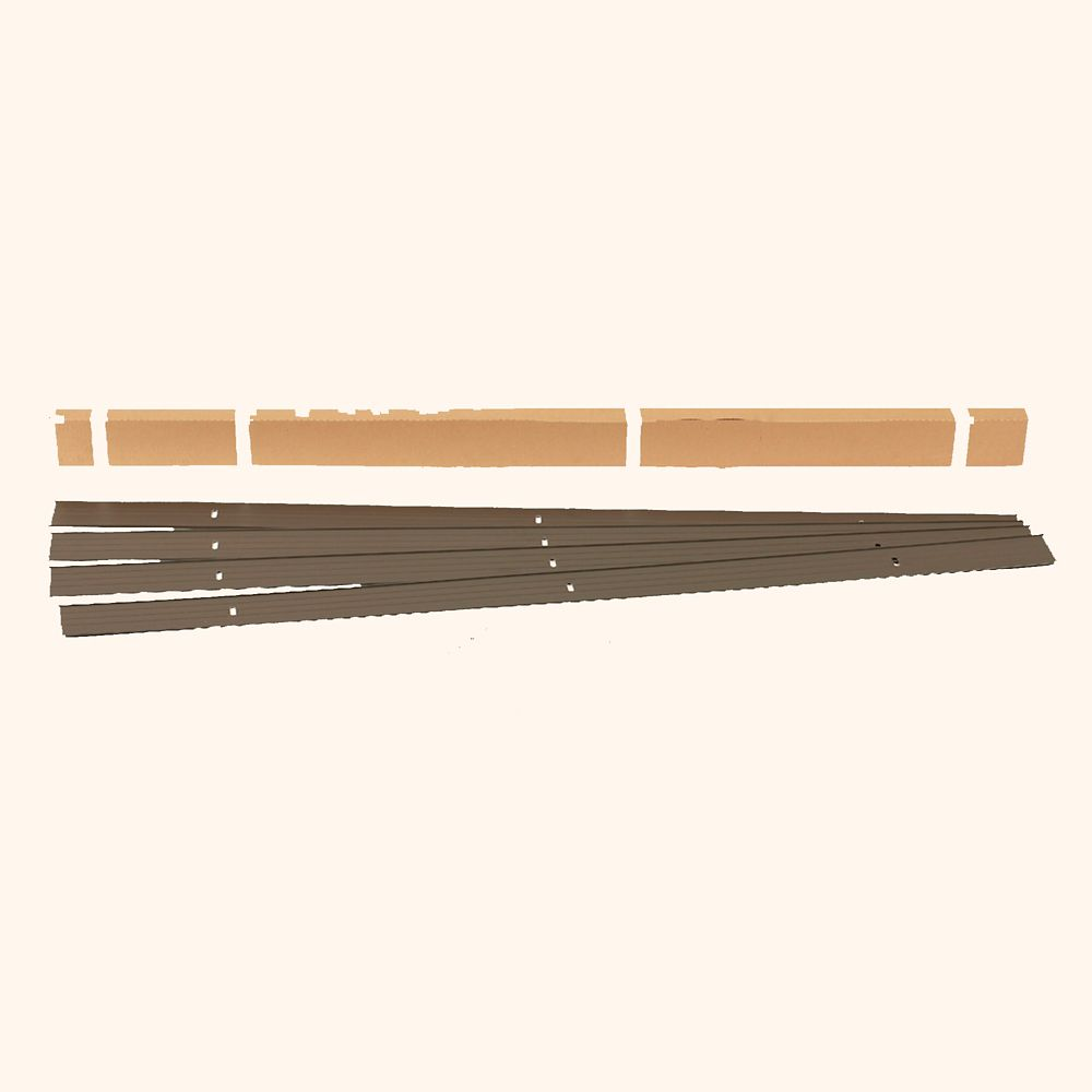EasyFlex EasyFlex 24 ft. Aluminum Landscape Edging Project Kit in Bronze