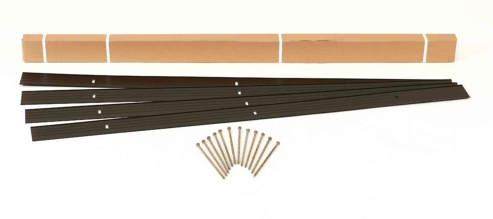 EasyFlex EasyFlex 24 ft. Aluminum Landscape Edging Project Kit in Black