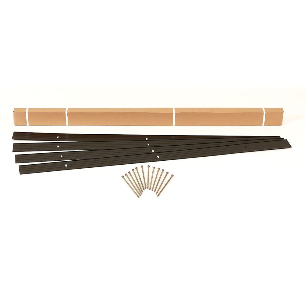 Multipurpose 16 Feet Landscape Edging Project Kit (BLACK)