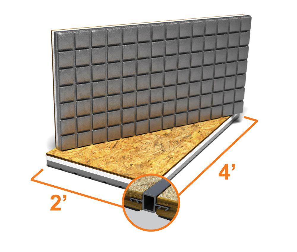 Basement Renovation Dricore Subfloor Installation: PROVA PROVA-BOARD 32-inch X 48-inch X 1/2-inch - WATERPROOFING BOARD 5 PACK