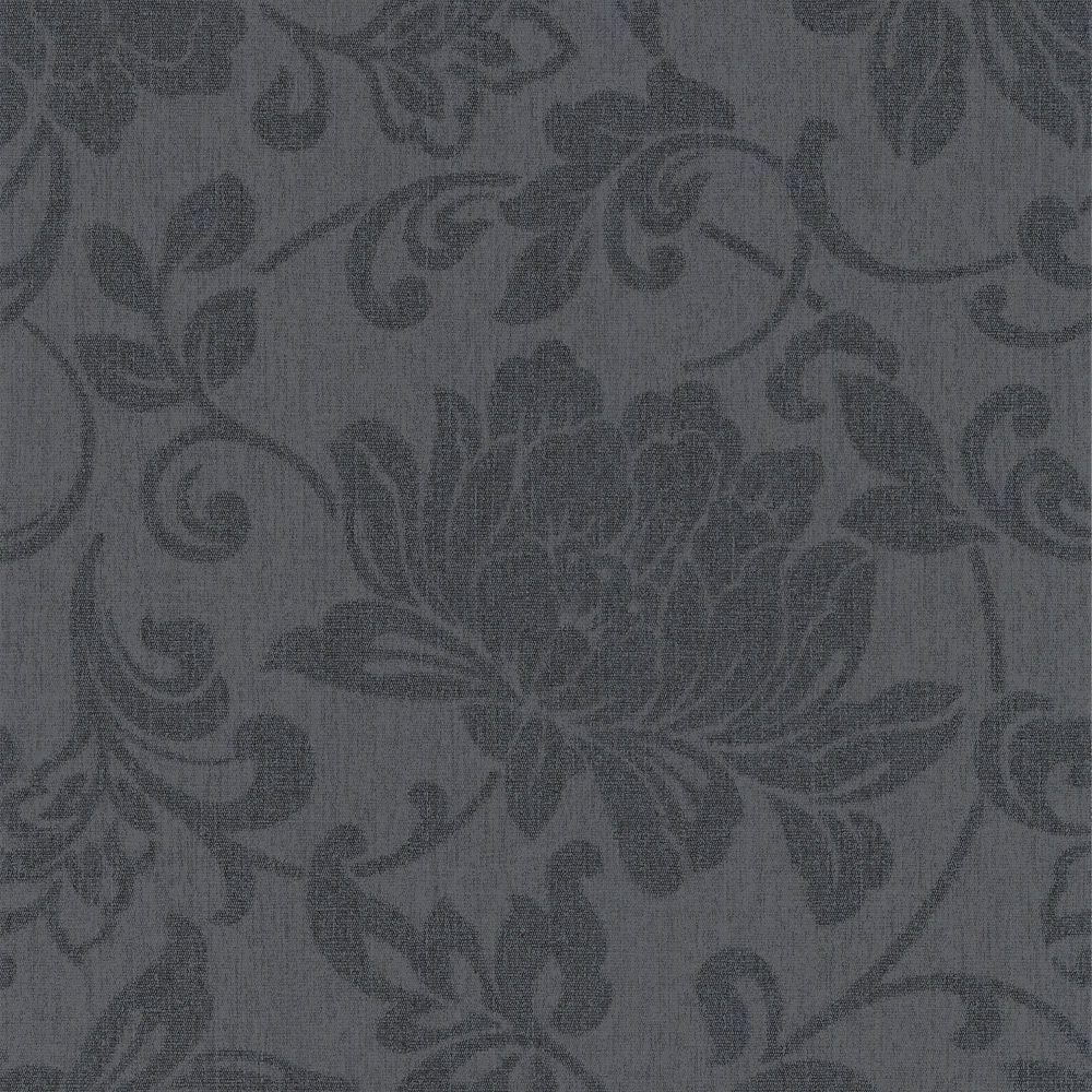 Jacquard Charcoal Wallpaper