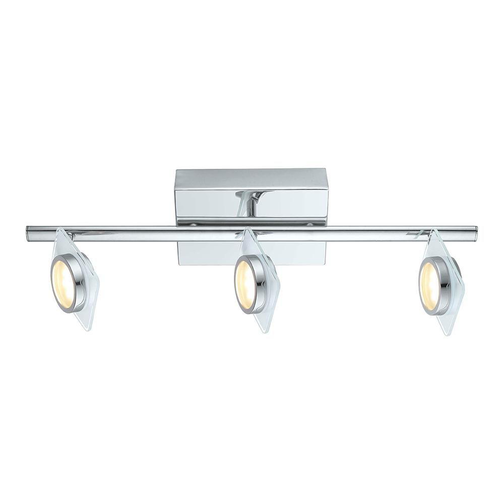 Tinnari Rail LED 3L, fini chrome avec verre satin