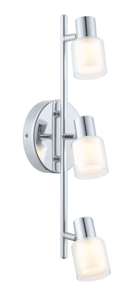 Salti Rail LED 3L, fini chrome avec verre givré et clair