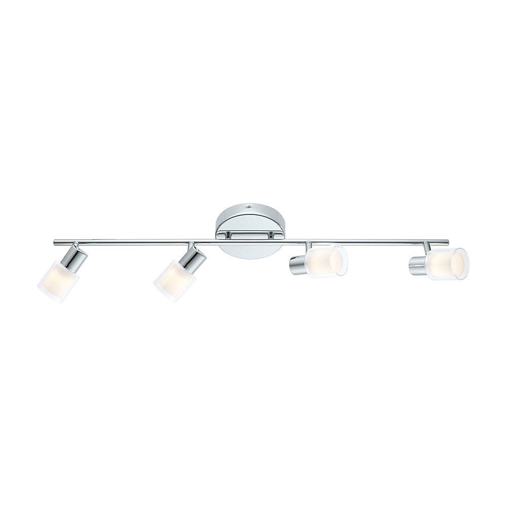 Salti LED Track 4L, Chrome Finish with Frosted & Clear Glass
